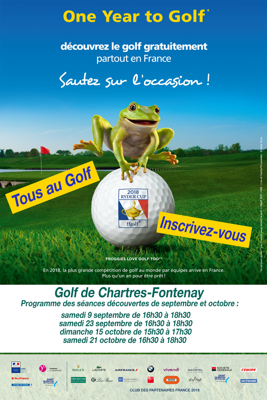 one year to golf tous au golf golf de chartres fontenay. Black Bedroom Furniture Sets. Home Design Ideas